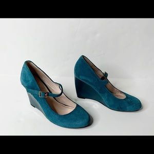 Vince Camuto Teal Blue Heel Wedge Size 5M